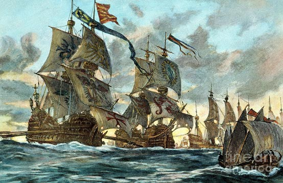The Spanish Armada sailed against England