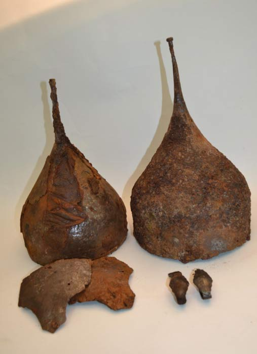 One of the archaeologists on the dig says the spiked helmets are a highlight of the excavations.