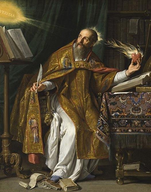 Saint Augustine. (Circa 1645-1650) by Philippe de Champaigne.