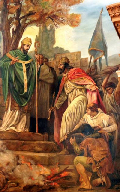 St Patrick preaching to the king of Ireland on his return (Lawrence OP / CC BY-NC-ND 2.0)
