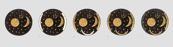 The stages in the life of the Nebra Sky Disc. Photo credit: LDA Sachsen-Anhalt