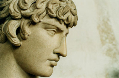 A statue of Antinous