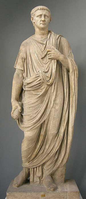 A statue of Claudius in the Vatican museum.
