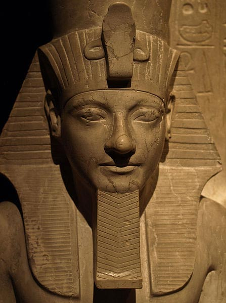 Detail of a statue of Horemheb, at the Kunsthistorisches Museum, Vienna.