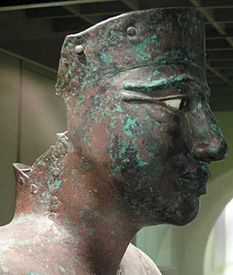 Lifesize copper statue of Pepi I, Cairo Museum.