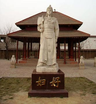 Commemorative statue of Fu Hao at Yinxu