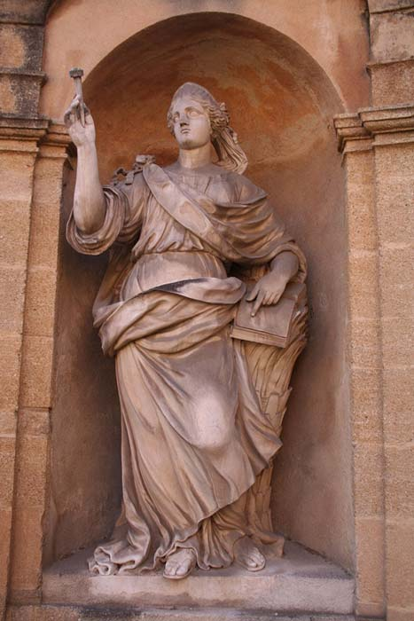A statue of prophetess Deborah in Aix-en-Provence, France. She was the only female judge mentioned in the Bible.