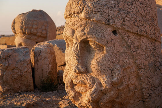 Well preserved statues remaining on Mount Nemrut