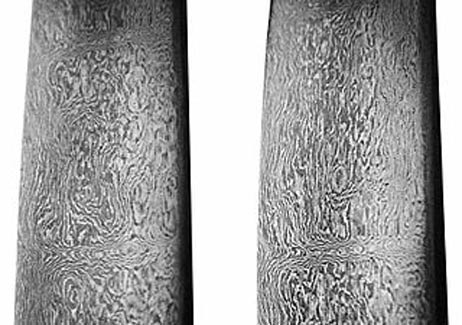 18th-century Persian-forged Damascus steel sword.