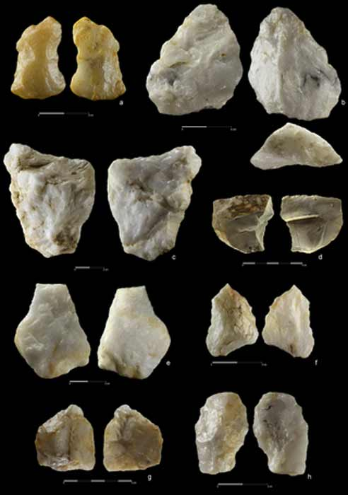 The wide variety and number of stone tools found at the Sudan gold mine site could potentially indicate that Homo Erectus was trading tools across the region. (PLOS ONE)