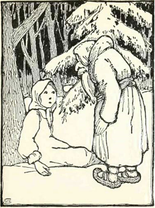 Illustration for the story of King Frost. (1914)