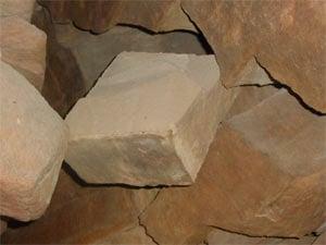 Stone on a block