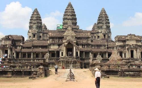 Angkor Wat as viewed from the rear. (CC BY-SA 3.0)