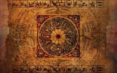Astrology Zodiac (parchment) (Dreamstime.com)