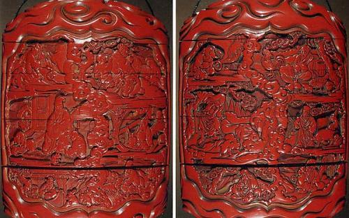 Case with Design of Zodiac Animals beside Chinese Sages and Scrolls (www.metmuseum.org)