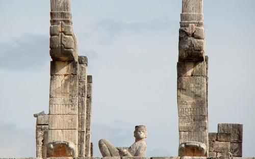 Detail of Temple of the Warriors, showing a statue of Chacmool. (CC BY-SA 3.0)