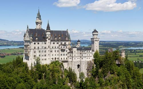 Castle Neuschwanstein at Schwangau, Bavaria, Germany