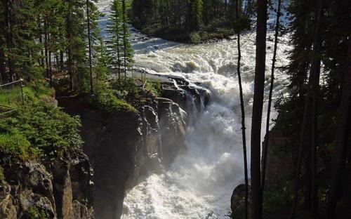 Sunwapta Falls in Jasper National Park. (Public Domain)