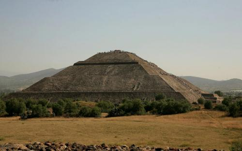 Left side view of the Pyramid of the Sun. (CC BY-SA 3.0)