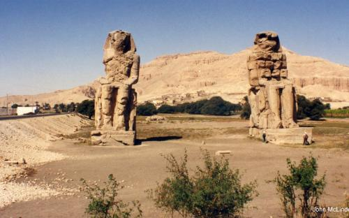 Huge Statues of Amenhotep III (by John McLinden)