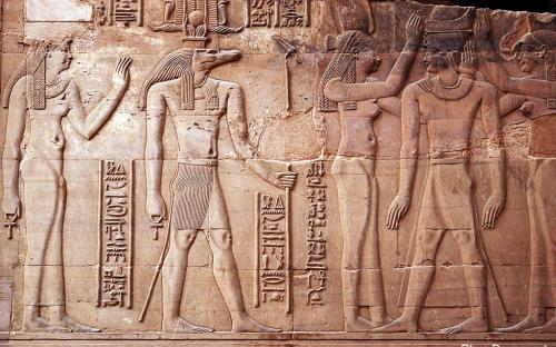 Hathor and Sobek - Wall depiction (by Rhys Davenport)