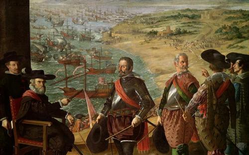 Defense of Cádiz against the English, by Francisco de Zurbarán, 1634 (Prado Museum, Madrid)(Public Domain)