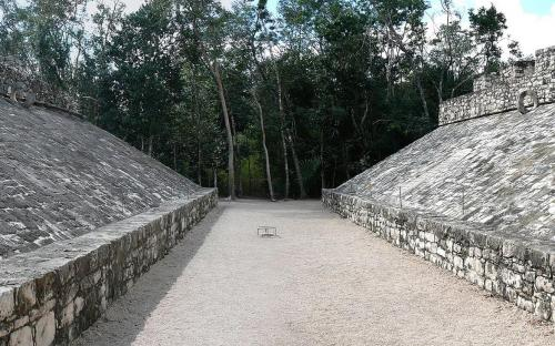 One of two ballgame courts at Cobá. (Public Domain)
