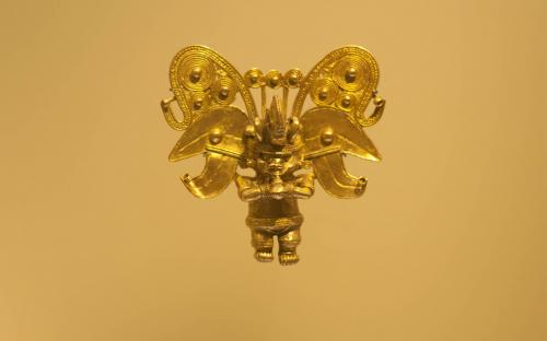Anthropozoomorphus pendant- Museum of Gold, Bogota, Colombia