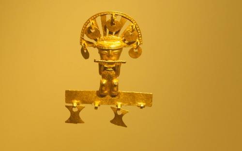 Anthropomorphus pendant- Museum of Gold, Bogota, Colombia