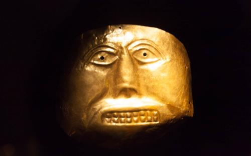 Funerary Mask - Museum of Gold, Bogota, Colombia