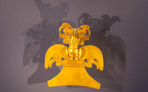 Anthropomorphus figure - Museum of Gold, Bogota, Colombia