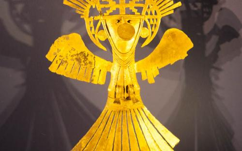 Anthropomorphus figure - Museum of Gold, Bogota, Colombia