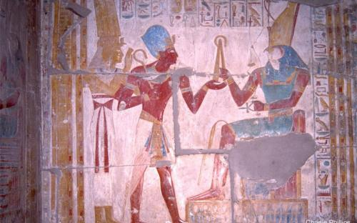 Seti, Isis and Horus - Abydos (by Charlie Phillips)