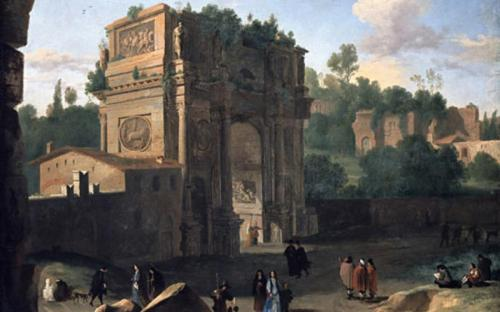 The Arch of Constantine, Rome - painted by Herman van Swanevelt, 17th century	(Public Domain)