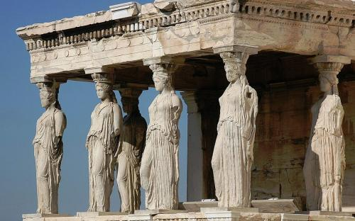The porch of the Caryatids at the Erechtheum. (CC BY-SA 3.0)