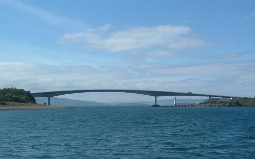 The Skye Bridge, linking Kyle of Lochalsh to Skye (Public Domain)