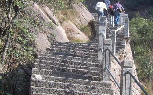 Carved steps at Huangshan (CC BY 3.0)