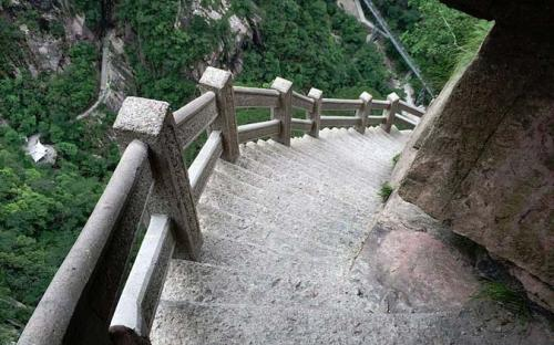 Steep steps downhill (CC BY-SA 4.0)