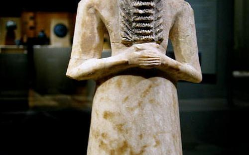 "Tell Asmar ""Standing man"" votive"