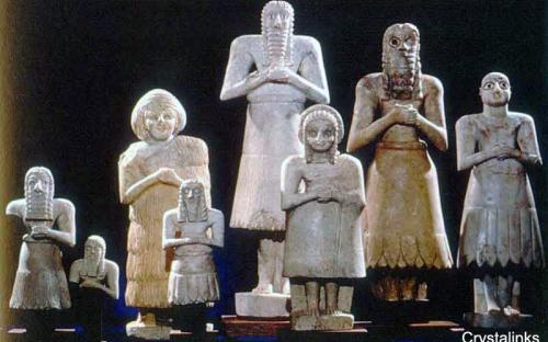 Votive Statues, from the Temple of Abu, Tell Asmar