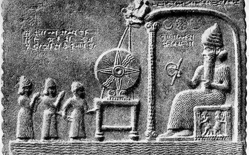 King of Babylon performing an act of worship before Shamash, the Sun-god