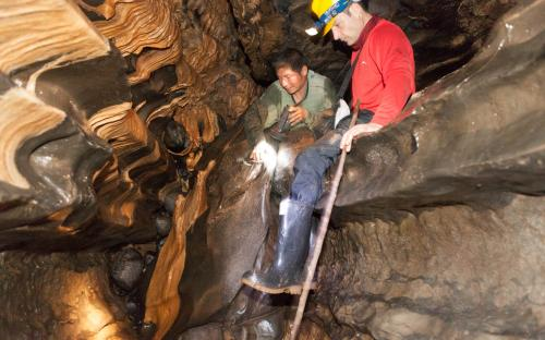 Investigating Rock formations in Tayos Cave