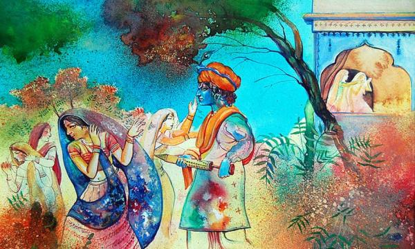 Holi festival painting