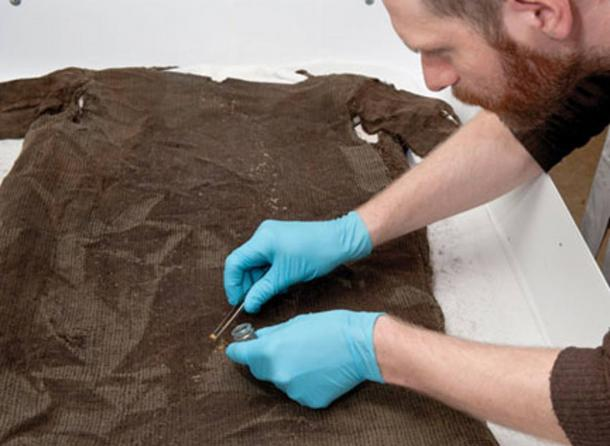 1,700-year-old tunic recovered from ice.