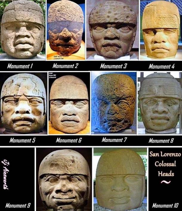 10 Colossal Heads from San Lorenzo.