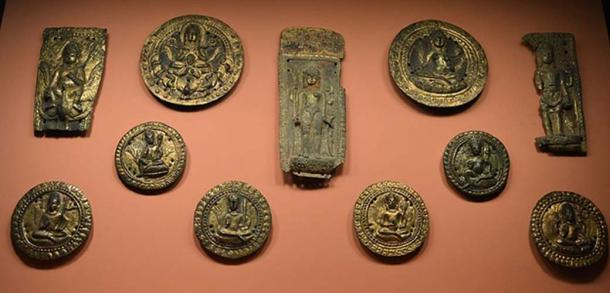 11th century A Hoard of Gilded Objects.