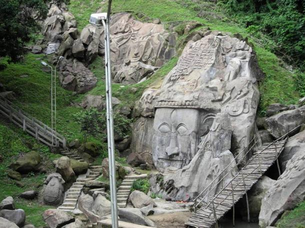 11th century rock cut, bas-relief sculptures said to be dedicated to Lord Shiva.