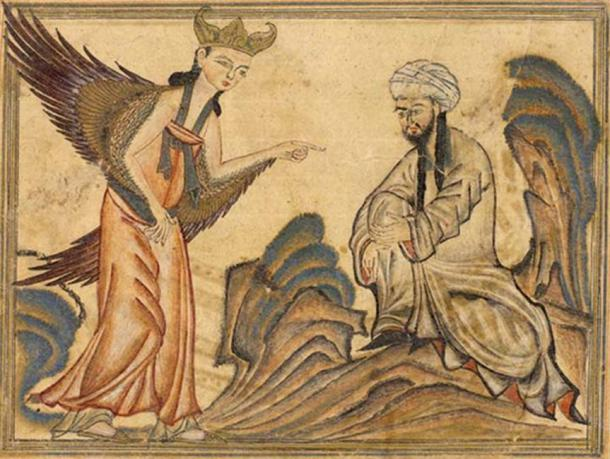 1307 Depiction of Mohammed receiving his first revelation from the angel Gabriel. (Public Domain)