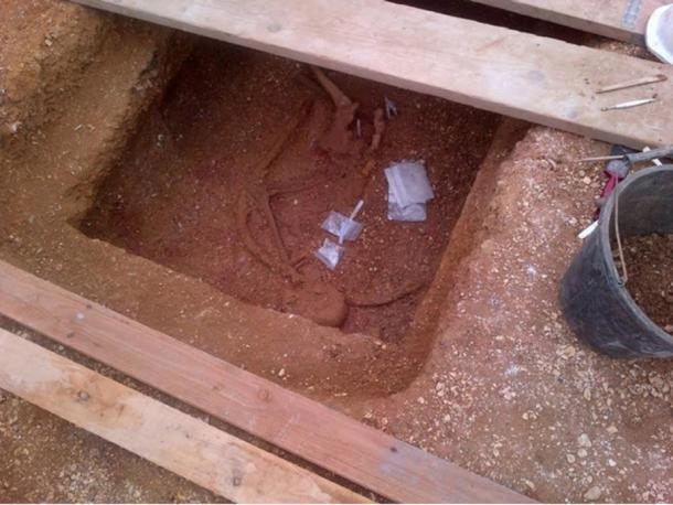 The archaeologists have discovered 150 skeletons of people buried in 75 square barrows or tombs.
