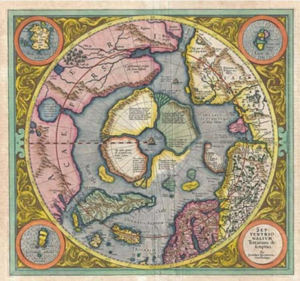 A 16th century map of the Arctic